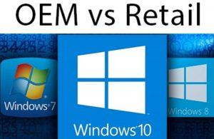 نسخه های OEM و Retail در ویندوز 10